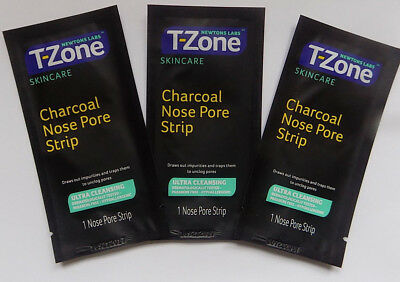3 T-Zone Charcoal Nose Pore Strips Effective Skin Care Free Post Packing