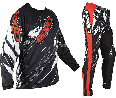 SHOT EXID 15 TRIALS PANTS + JERSEY RED off-road mx enduro bike trousers shirt