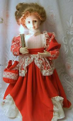 Vintage Animated Lighted Telco MOTION-ette Electric Christmas Victorian Lady