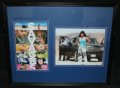 Salma Hayek Autographed Photo Framed & Matted with Small Movie Poster