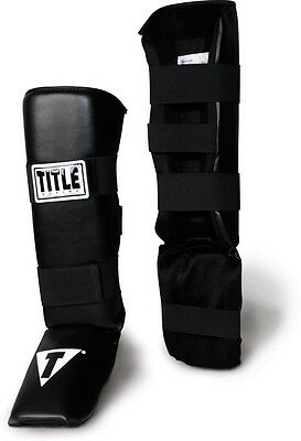 Title Shin Guards MMA Muay Thai Kickboxing Sparring Equipment Adult / Child Size