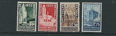 BELGIUM 1934 BRUSSELS INTL. STAMP EXH. of 1935 complete set F/VF MNH