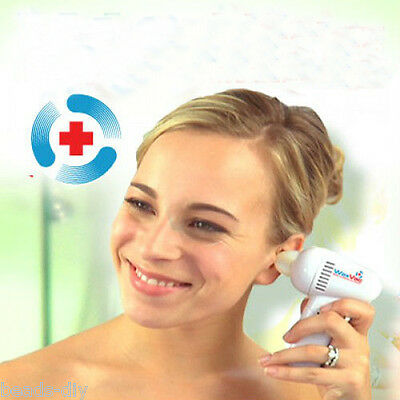 Safety Led Electric Ear Wax Remover Vac Vacume Cleaner Painless Cordless