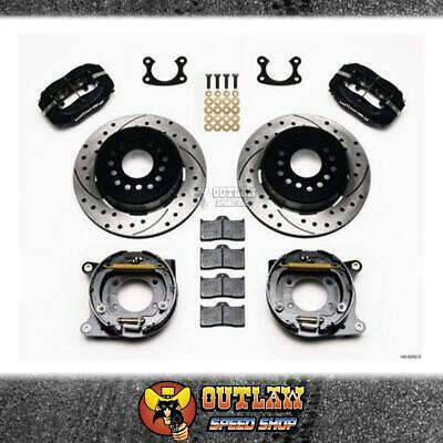 Wilwood Dynalite Rear Parking Brake Kit Drilled Suit Small Ford - Wil1409282D