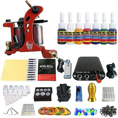 Solong Tattoo Kit de Tatuaje Ametralladora  Poder Aguja Color TK105-71-80