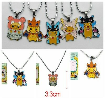 New Pokemon Pikachu Mega Charizard Gyarados Cape Magikarp Necklace Gift