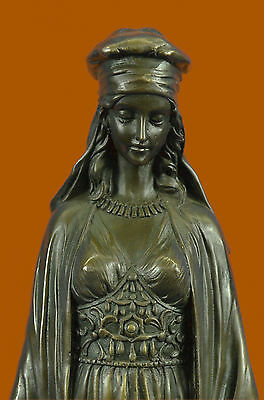 Art Deco Victorian Lady With Water Jugs Bronze Sculpture Figurine Figure Sale