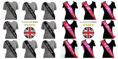 Hen Party Sashes Bride to Be Accessories Hen Party Novelty Girls Team Bride ML