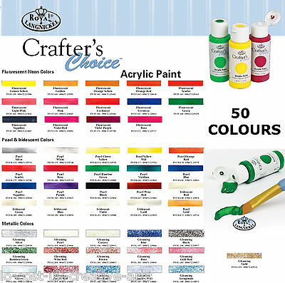 ROYAL LANGNICKEL ARTIST ESSENTIALS ACRYLIC 59ml CRAFT PAINT BOTTLE 105+ COLOURS