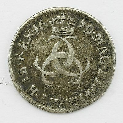 1679 King Charles II 3d threepence Coin