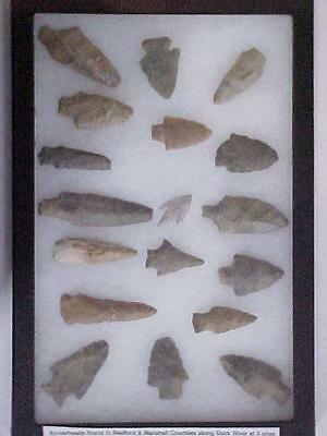 18 AMAZING TENNESSEE ARROW HEADS / From Bedford & Marshall County by Duck River