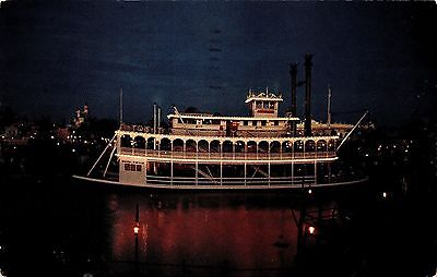 Disneyland Mark Twain Chrome Postcard