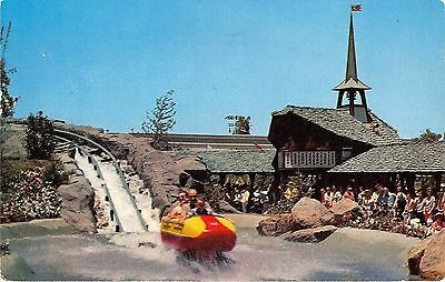 Disneyland Bobsled Chrome Postcard