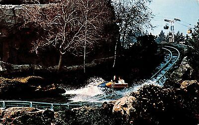 Disneyland Bobsled Run Chrome Postcard