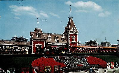 Disneyland Train Station Chrome Postcard