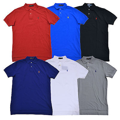 Polo Ralph Lauren Mens Polo Shirt Classic Fit Mesh Pique Pony Logo New Nwt