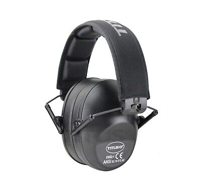 Low Profile Black Ear Muffs Hearing Noise Reduction Protection Shooting 34 Nrr