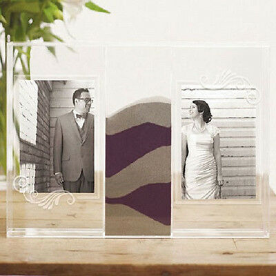 Clearly Love Sand Ceremony Shadow Box With Photo Frames Sand Unity Wedding Set