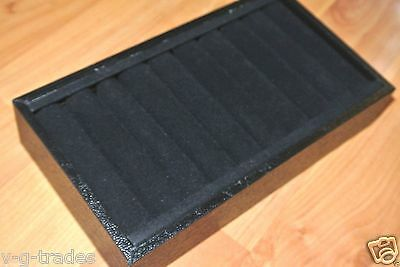 NEW  9 Section Faux Leather Bangle Trays - BLACK   VELVET