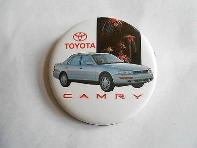 Vintage Toyota Camry Automobile Advertising Pinback Button