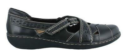 Clarks Ashland Spin  On Shoe Leather Womens Casual Shoes