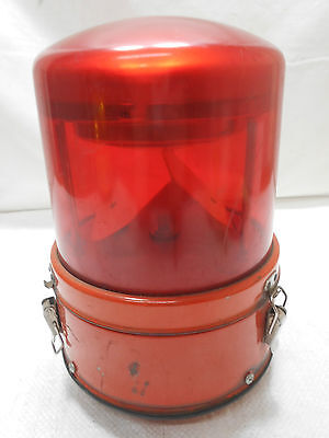 Vintage Ship's Electric WARNING LIGHT Lamp Japanese RED #35