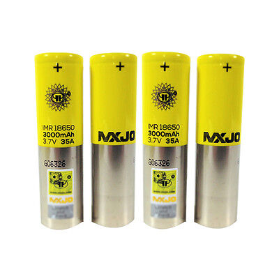 4 PCS MXJO IMR 18650 3000MAH 35A 3.7V Flat Top High Drain Rechargeable Battery