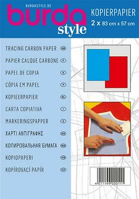 Burda Tracing Carbon Paper Contents 1 Large Sheet Red & Each 83 X 57Cm