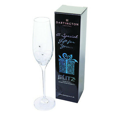 Dartington Glitz Champagne Flute Single Gift Boxed with Swarovski Elements
