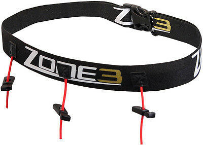 Zone3 Ultimate Race Number Belt with Energy Gel Storage