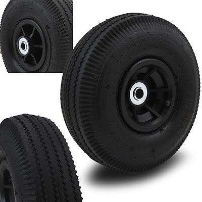 """(2) 10"""" Air wheels Replacement Tires For Hand Truck Dolly Cart Wheel kayak hub"""