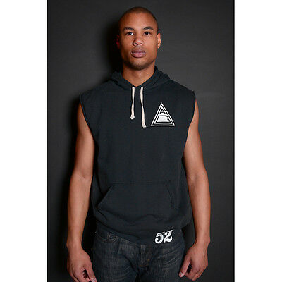 Roots of Fight Academia Gracie BJJ Sleeveless Pullover Hoodie - Vintage Black