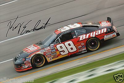 """Kerry Earnhardt Hand Signed Photo NASCAR Driver 12x8""""AB"""