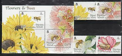 Pitcairn Island 670-73A Bees Mint NH