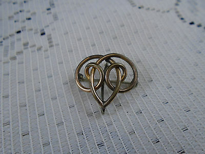 Antique Art Nouveau Lapel Pin Brooch Scrolling Design Rolled Gold