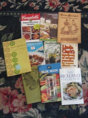 Lot of book cookbook natural healing natural remedies vintage herbal teas
