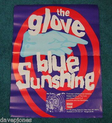 """THE GLOVE Robert Smith Siouxsie Cure 1990 Promo Poster """"Blue Sunshine"""" 18"""" x 24"""""""