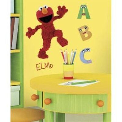 Sesame Street Elmo Figure Giant Peel and Stick Wall Decal NEW SEALED