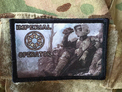 Star Wars Imperial Operator Scout Morale Patch Tactical Military USA Hook Badge