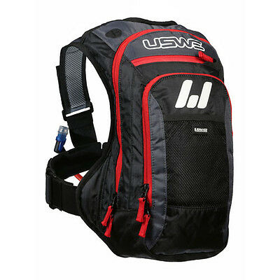 USWE Hydration Pack Bag A4 Challenger Black/Red 3L / 100oz Hydrapak Bladder NEW
