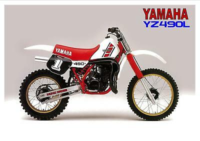 YAMAHA Poster YZ490 YZ490L 1984 VMX Suitable to Frame