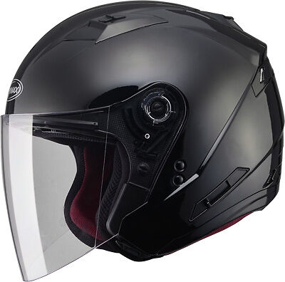 Gmax OF77 Open Face Street Motorcycle or Scooter Helmet-See Sizes-Black