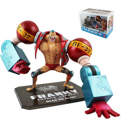 """New ! One Piece Franky New World Ver 13cm/5.2"""" PVC Figure New In Box"""