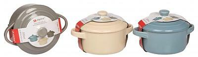 Ceramic 250ml Oven Safe Lidded Casserole Baking Tapas Serving Dishes Bowl