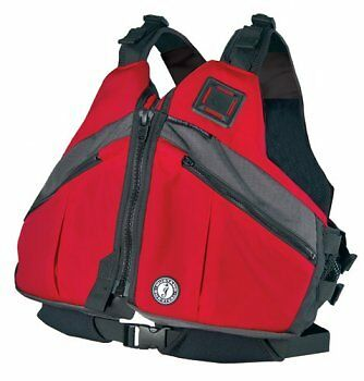 Mustang Deluxe Kayak Canoe Life Jacket Large New Vest
