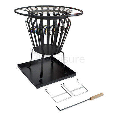 Garden Patio Fire Pit Brazier Basket Outdoor Wood Log Burner Camping Bbq Stove