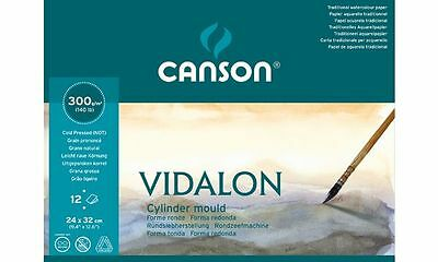 "CANSON Aquarellpapier-Block ""VIDALON"", 300 g/qm, 320x410 mm"