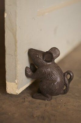 NEW Rustic Cast Iron Mouse Door Stop by Kalalou - Good For Doors or Books