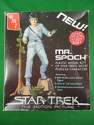 Vintage 1979 Star Trek Spock Authentic AMT Plastic Model Kit Mint in Box