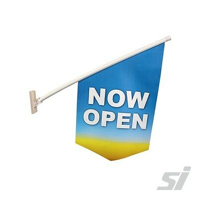End-sign Flag Kit - NOW OPEN Wall window mount shop front banner